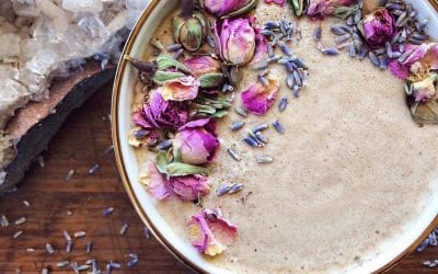 Lavender, Rose & Reishi Hot Chocolate (recipe)